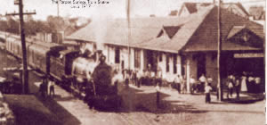 Train coming into Tarpon Springs Station 1917
